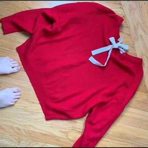 Zara cropped red sweater